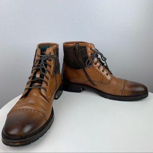 Johnston & Murphy J&M 1850 Cap Toe Boots Calfskin